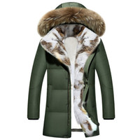 Wholesale stylish coats for winter online - A Long Thick Hooded Down canada Jacket parka coats hoods For women A Stylish womens Winter jackets Outfit long coat skirt Chaquetas