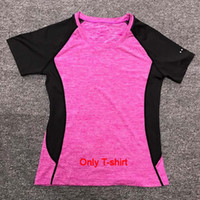 Wholesale thai tops for sale – custom Thai New Women Sport training Short Shirts yoga clothes Running Fitness Workout T shirt Fitness quick drying Female Gym Sports Tops
