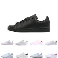 Wholesale sapatos eva shoes resale online - 2019 new mens smith Casual shoes classic Female Flat Shoes triple black pink green blue Lovers Sapatos stan sneakers size