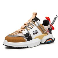 sert ayakkabı toptan satış-Erkek Moda Sonbahar rahat ayakkabılar Yeni Kalın alt Adam Rahat Ayakkabılar Marka Açık Işık kaymaz Yassı Ayakkabı Sert Giyen
