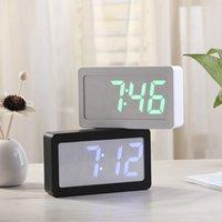 nível digital venda por atacado-Alarme USB Relógio LED Digital Display a cores RGB mudança 3 Nível de Controle de Brilho Som Alarm Clock Tabela desktop