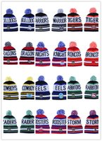 Wholesale top hat for sale - 2019 Winter NRL Beanies American Beanies Knitted Cap Sports Pom Cap Men And Women Beanie Outdoor Warm Cap Accept Mix Order