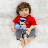 Wholesale boneca toys online - New inch Silicone vinyl Reborn Baby Doll Alive Real Touch Bebe Reborn Doll Boneca Toy Child Playmate Baby for Girl Christmas Gifts