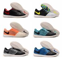 scarpe da calcio da uomo di alta qualità 2019 Lunar Gato II IC scarpe da calcio indoor scarpe da calcio scarpe da calcio economiche alla caviglia