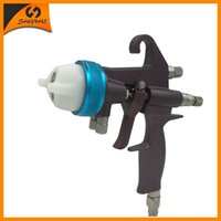 nano spray de cromo venda por atacado-Nano Chrome Duplo bocal Mini Spray Gun Chocolate Cromagem Pintura Gun SAT1202