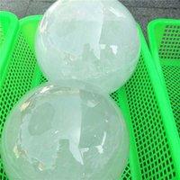 ingrosso sfere di cristallo bianco-Commercio all'ingrosso 18 centimetri di grandi dimensioni naturale 190mm pietra sfera di pietra sfera bianca cristallo trasparente palla di quarzo 200mm per la decorazione domestica