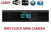 video reloj despertador al por mayor-Wifi remoto mini reloj cámara HD 1080p reloj despertador cámara de video compatible con la visión nocturna IR vigilancia de seguridad en el hogar Nanny Cam