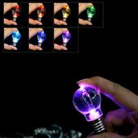 mini-led wechselnde glühbirnen großhandel-Farbwechsel LED-Licht Mini-Birnen-Fackel-Schlüsselring Mini LED Schlüsselanhänger Lampe im freien Gerät ZZA708