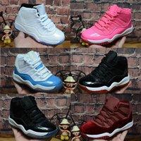 ingrosso scarpe rosa 11 s-2019 Nuovi 11 s Kids Space Jam Scarpe da basket per bambini Concordati Palestra Bianco Rosa Midnight Navy Designer Scarpe da ginnastica Toddlers Sneakers di lusso
