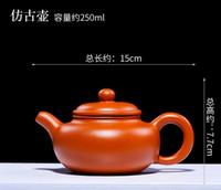 Wholesale zisha yixing teapots resale online - Promition Antique Teapot Yixing Teapot Zisha Tea Pot Purple Clay Teapot Handmade Kung Fu Teaset Fangguhu