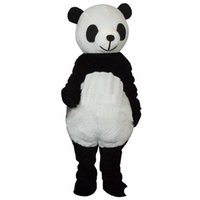 panda fantasia venda por atacado-2019 Desconto venda da fábrica Barato Novo casamento Panda Bear Mascot Costume Fancy Dress Adulto Tamanho shippng livre