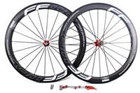 surface de peinture achat en gros de-Roues de vélo en carbone 50mm FFWD F5R ligne blanche peinture basaltique surface de freinage à pneu tube de route cycliste vélo largeur de la roue 25mm UD mat
