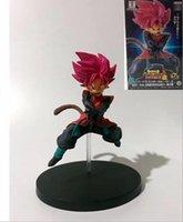 sol voe venda por atacado-Anime Frontline Dragon Ball 7o Aniversário Sol Wufan Sun Wukong Posição de Vôo Vermelho Figuras de Ação Frete Grátis
