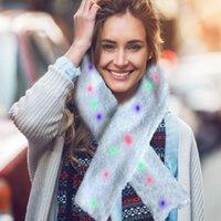 новогодние шарфы оптовых-2019 новая новинка загорается светодиодный светящийся шарф теплый шарф рождественский костюм день рождения подарок опора для детей и взрослых