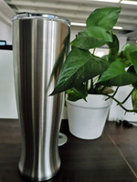 latas de jarrones al por mayor-Vasos de vidrio de cerveza Pilsner de acero inoxidable de 30 oz.