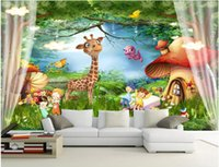 Wholesale bedroom paintings photos for sale - Group buy WDBH d wallpaper custom photo Cartoon fantasy forest kids room tv background painting Home decor d wall murals wallpaper for walls d