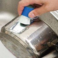 ingrosso pulizia magica della spazzola-1PC auto spazzole in acciaio inossidabile Rod Magic Stick di antiruggine Wash Brush Cleaning Wipe Pot Car-styling accessori per la pulizia