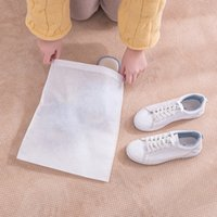 Wholesale shoe storage covers resale online - 5pcs Drawstring Shoes Storage Bag Travel Storage Organizer Portable Package Bags Waterproof Wardrobe Home Non Woven Pouch