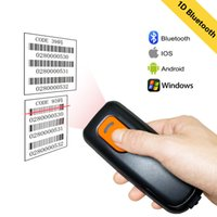Wholesale portable bluetooth barcode scanner resale online - Yanzeo P1600 Connection Portable Pocket Wireless Bluetooth Reader Mini G D Barcode Scanner for Android Window