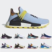 spor koşucuları toptan satış-2019 Adidas Human Race Inspiration Solar Pack NMD trail Running Shoes Men Women Pharrell Williams HU Heart Mind Equality Nerd sports runner sneakers