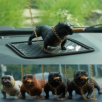 Wholesale Car Dog Resin Bulldog Decoration Creative Car Interior Fashion Simulation Dog Doll Interior Accessories Ornaments Rogue dog C19011801