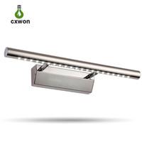 nuevos modelos de luces led al por mayor-Nuevo modelo de luz de espejo LED 5W 7W 180 ° Blanco ajustable Luz de baño blanca cálida Luz de maquillaje de acero inoxidable