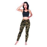 herbst typ frauen großhandel-Frau leggings kette schwarz 3d grafik voll gedruckt frühling sommer herbst yoga hosen dame dünne jeggings mädchen runner sporthose (y54076)
