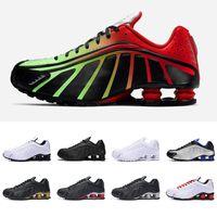 обувь для новобрачных оптовых-Shox R4 мужчины кроссовки NEYMAR OG тройной черный белый RACER BLUE COMET RED мужские спортивные кроссовки модные спортивные кроссовки