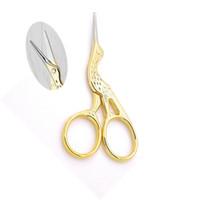 kleine metallvögel großhandel-Goldener Splitter Edelstahl Schere Metall plattiert Home Schere Vogel Form praktische Nasal Hair Beauty kleine Scherer 5 2xh2D1