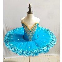 desgaste da dança do carnaval venda por atacado-Crianças lantejoulas Ballet dança do vestido da menina do tutu do bailado dança Roupas Crianças Estágio Wear Costumes Swan Lake carnaval vestido do desgaste