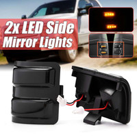 Wholesale side view mirror signal lights resale online - New x Car Smoke Rear view Side Mirror Indicator Light Amber Led Turn Signal For Ford F250 F350 F450 F550