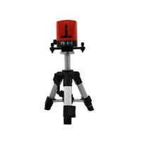 auto-nivelamento de laser de linha cruzada venda por atacado-Freeshipping 360 graus de auto-nivelamento Cruz Red Laser Nível de Comprimento de Onda 635nm 2 linha 1 ponto Mini instrumento Portátil + AT280 tripé
