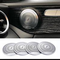 mp4 bluetooth lautsprecher groihandel-2019 4 stücke Für Mercedes Benz Car Audio Lautsprecher Autotür Lautsprecherabdeckung 2015-2018 C Klasse W205 / GLC 2016-2018 E-klasse edelstahl
