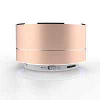 bluetooth oppo toptan satış-Kablosuz A10 LED Parlayan Bluetooth Alıcısı Hands-Free Müzik Çalar Metal Bluetooth Hoparlör iphone xiaomi Oppo