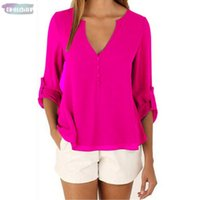 Wholesale brands clothes china resale online - Brand Fashion China Shirt V Neck Long Sleeve Sexy Plus Size Cheap Clothes Blusas Feminina Clothing Women Tops Pullover Blouses