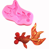 Wholesale silicone decorating moulds resale online - Silicone molds Bamboo fence and Koi fish fondant mold cake decorating tools chocolate moulds wedding decoration mould