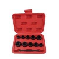Wholesale tool box lock set for sale - Group buy 11Pcs Nut Bolt Removers Set Mm Locking Wheel Bolt Nut Stud Extractor Twist Socket Set Threading Hand Tools Kit With Box