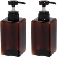 Wholesale shampoo pump dispenser bottle resale online - 450ml oz Refillable Empty Plastic Bottles Pump Container Lotion Dispenser Bottle Jars for Makeup Cosmetic Bath Shower Shampoo