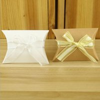 caixas de presente brancas amarelas venda por atacado-100 PCS Favores Do Casamento Caixa para Doces Estilo Europeu Branco Amarelo Caixas de Bombons DIY Titulares Da Caixa de Presente para Os Convidados Fontes Do Partido pacote