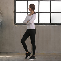 Wholesale white yoga outfits resale online - Beginner Gymnasium Sport Suit Major Long Sleeves Outdoors Athletic Wear Women Quick Drying Pure Color Yoga Outfits Hot Sale cs1H1