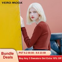Wholesale moda zipper for sale - Group buy Vero Moda Fall Wool Slim Fit Round Collar Pullover Knitted Sweater
