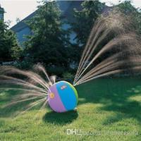 ingrosso acqua spray estiva-Spray Water Ball Fontana gonfiabile Gioco da Esterni Pallanuoto Estate Spray Beach Balls di giocattoli per bambini Piscina Gioca 33 65hs F