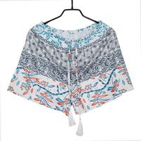 b2e68442a74 New Fashion Women Spring Summer Casual High Elastic and Drawstring Waist  Prints Sexy Shorts Spring Lace Up Green