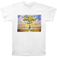 модель t shirt boys оптовых-Beach Boys мужская 50-летие тур футболка белый хлопок мужчины футболки классический топ Tee основные модели футболка