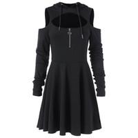 ingrosso oscillare aperta-Open Swing Dress con cerniera