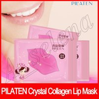 Wholesale lip pilaten resale online - Pilaten Crystal Collagen lip Mask Moisture essence Collagen lip care Anti Aging Anti Wrinkle Full Lips Plumper Skin Care