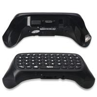 Wholesale DOBE Mini Wireless Keyboard For Xbox One Xbox One S Controller G Chatpad Meaasge Handle Gamepad Green Backlight Keyboard DHL Free