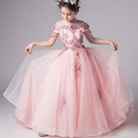 Wholesale white embroidered dresses for party for sale - Group buy New Top Quality Kids Dresses For Girls Wedding Dress Lace Teenagers Embroider Party Dress For Christmas Kids Girls Costumes Y190515