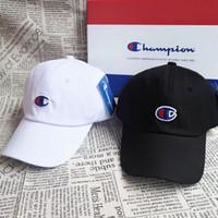 Wholesale champions hat resale online - Christmas champion women men Plain Blank Snapback hats black Snapbacks Snap Back Strapback Caps Hat black white
