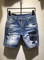 off denim short venda por atacado-Calças de brim do desenhador dos homens Tamanho Grande Mostra Off Skinny Mens Jeans Shorts Jeans Moda Shorts de Quatro-cor Opcional Mens Designer Jeans